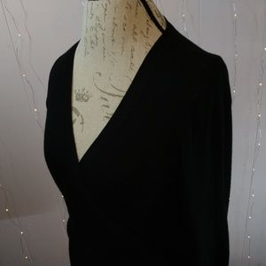 Black Wrap Shirt